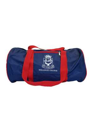 Wellesley College Barrel PE Bag